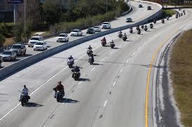 Bikers heading to Daytona Bike Week on I-4