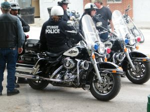 Cops at Sturgis motorcycle rally